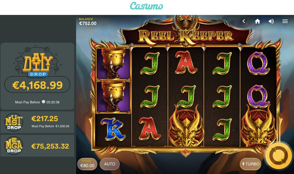 daily jackpots at casumo from game provider red tiger