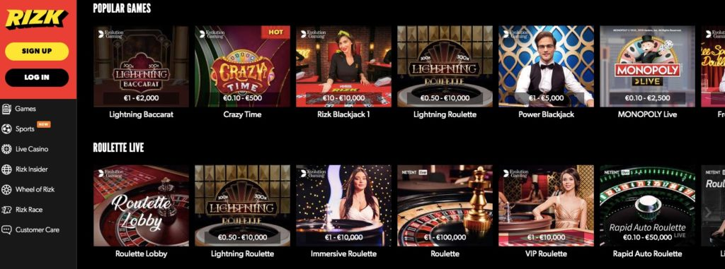 popular live casino games like roulette blackjack and more