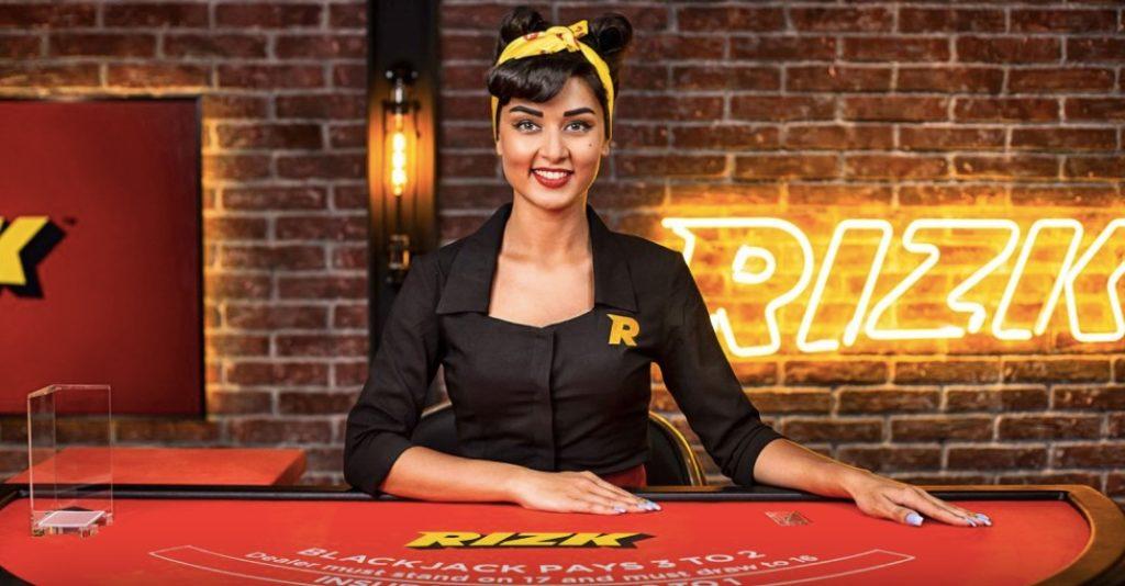 female live casino dealer at rizk casino