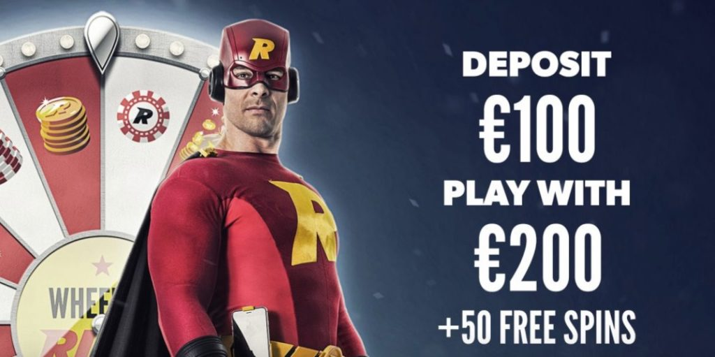 rizk welcome bonus 100% up to €100 + 50 free spins