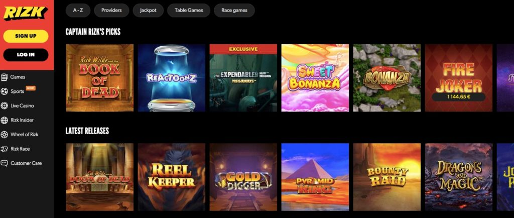 variety of the most popular slot games online