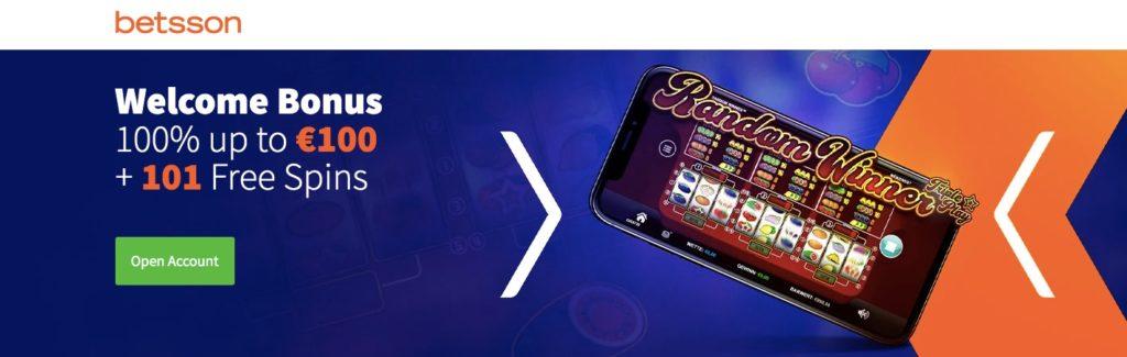 betsson casino welcome bonus