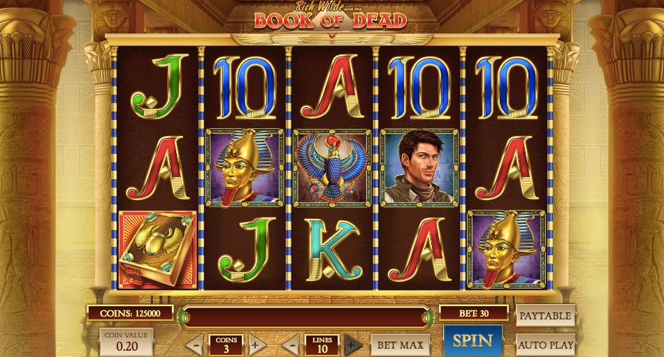 most played online video slot book of dead