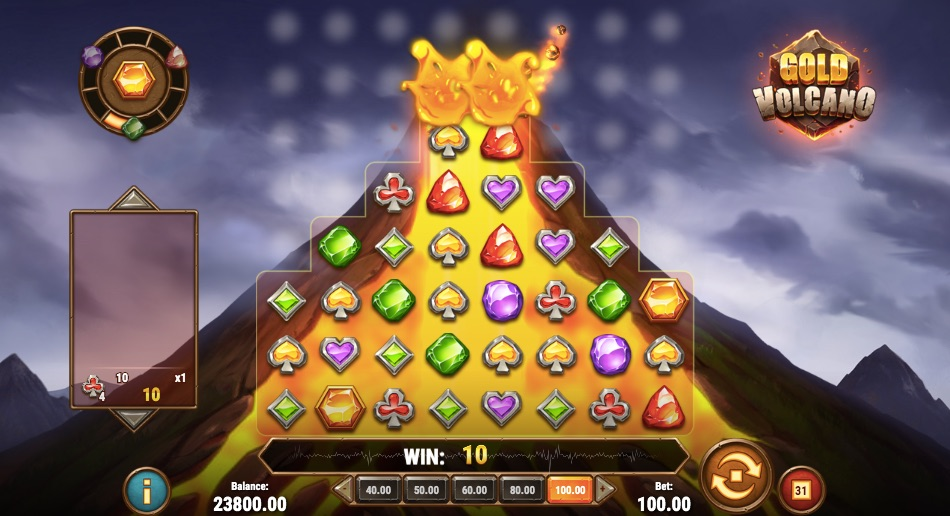 gold volcano slot from game provider play n go