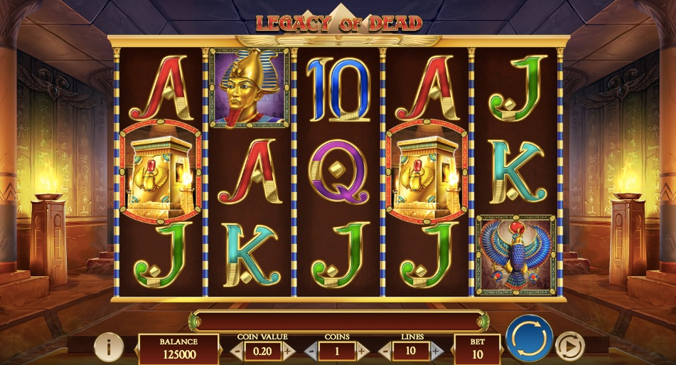 legacy of dead video slot from play n go