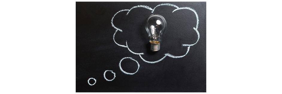 lightbulb in a innovation cloud
