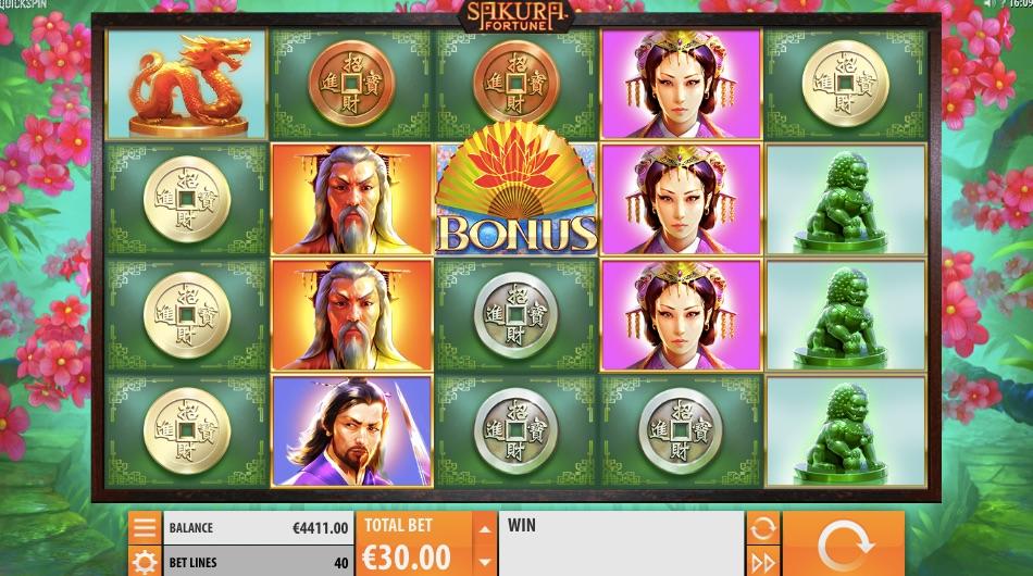 sakura fortune slot from game provider quickspin