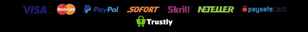 payment method logos like visa mastercard paypal sofort trustly and more