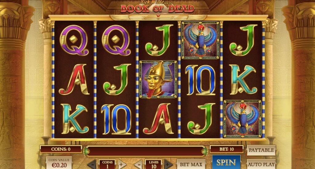the online casino slot book of dead from game provider play n go