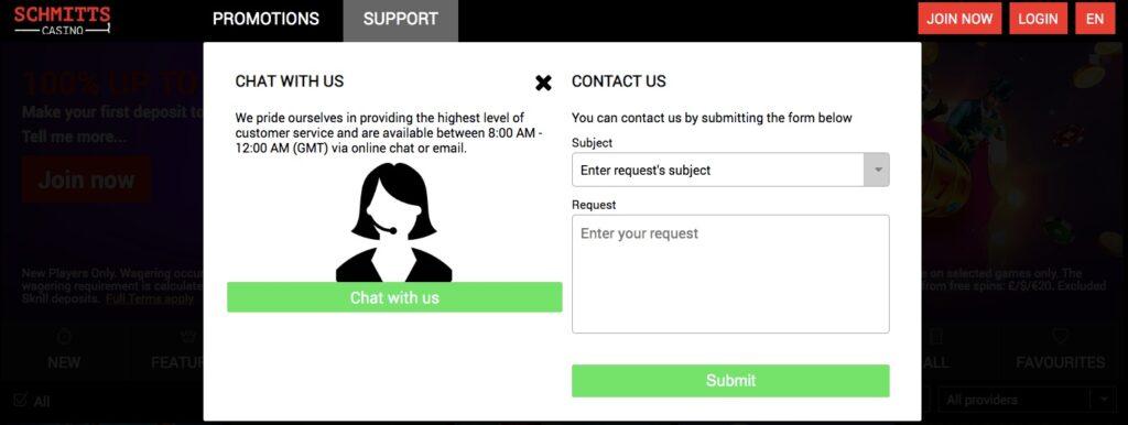 customer support form
