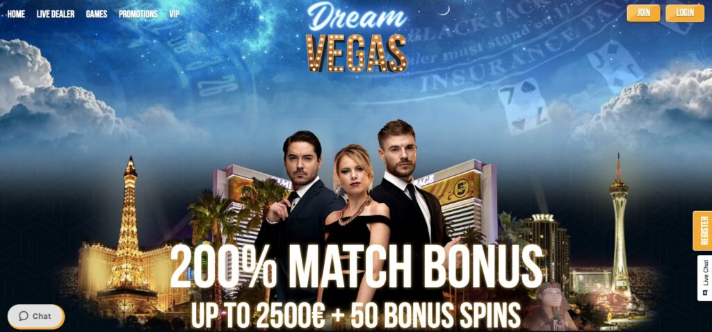 dream vegas online casino start page