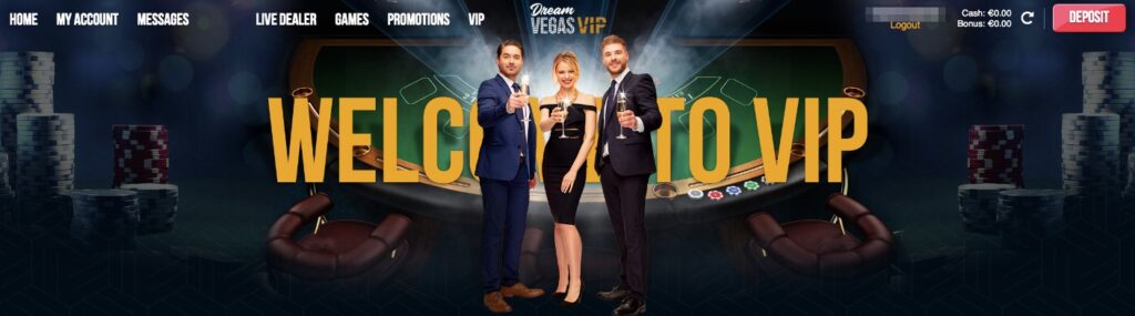 vip club at dreamvegas online casino