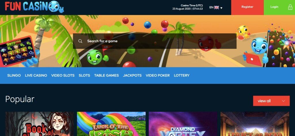 fun casino start page