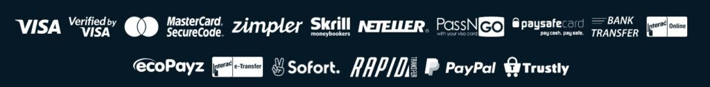 different popular payment method logos