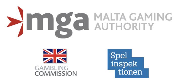 mga ukgc and sga license logos