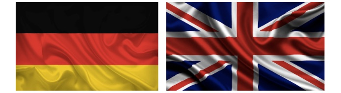 germany and uk flags