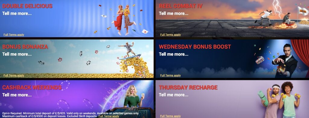 different casino promotions available at schmitts casino