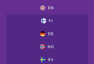 flags of the different yako casino language versions