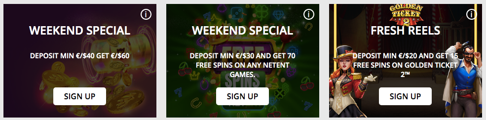 3 current promotions at betpat casino