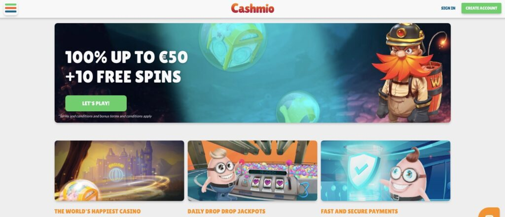 cashmio casino start page