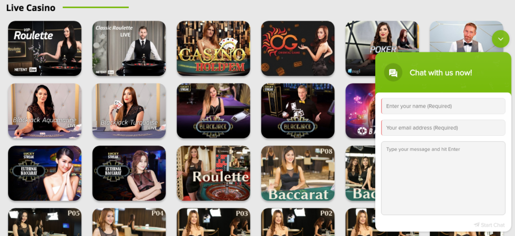 the betpat casino live chat box