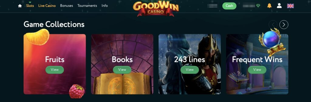 4 of the available game categories