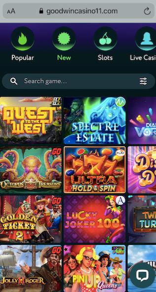 goodwin casino mobile version