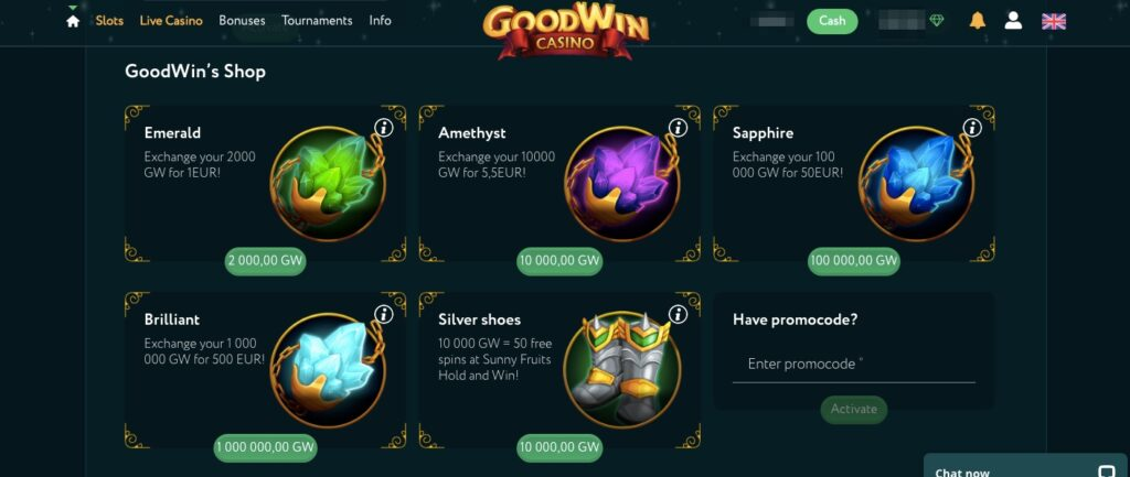 items from the loyalty shop