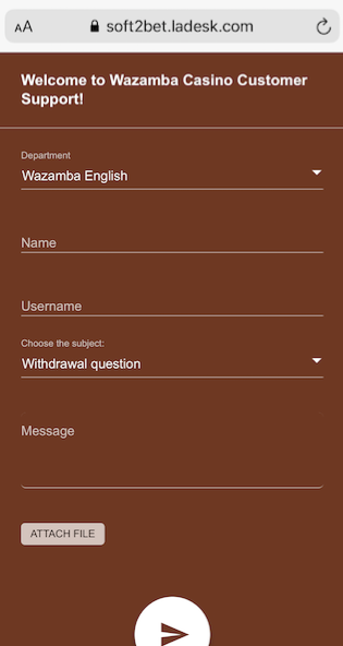 The live chat customer support box