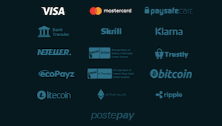 16 payment provider logos that players can choose among