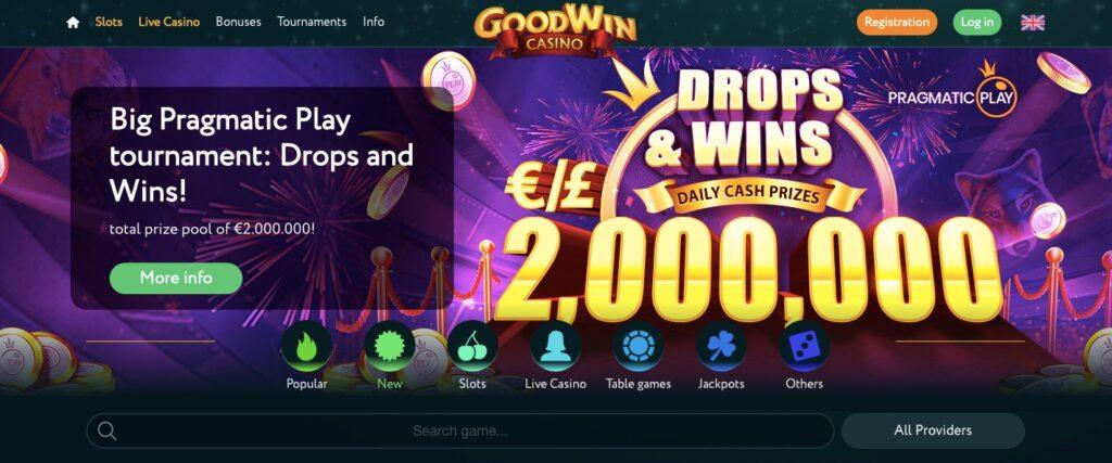 start page goodwin casino