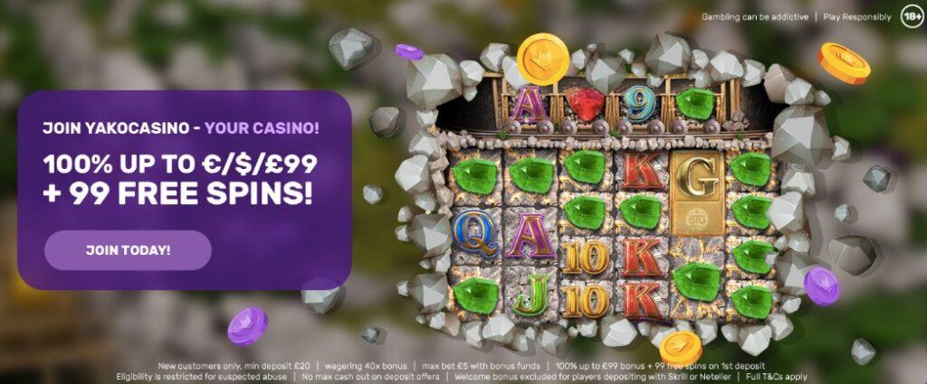 yako casino welcome bonus banner