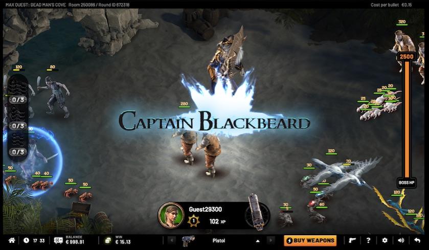 the captain blackbeard feature on dead mans cave