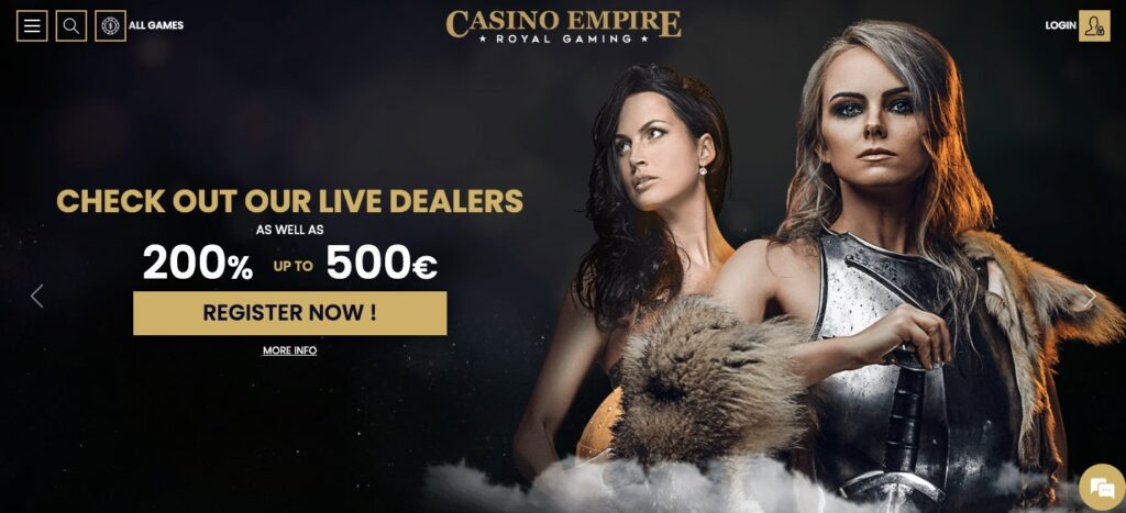 casino empire start page