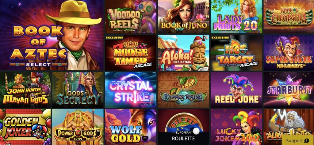 selection of the most popular slot games at whamoo casino