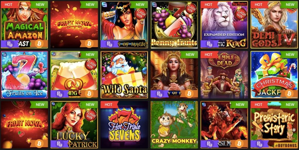 18 popular slots from the fastpay casino game lobby