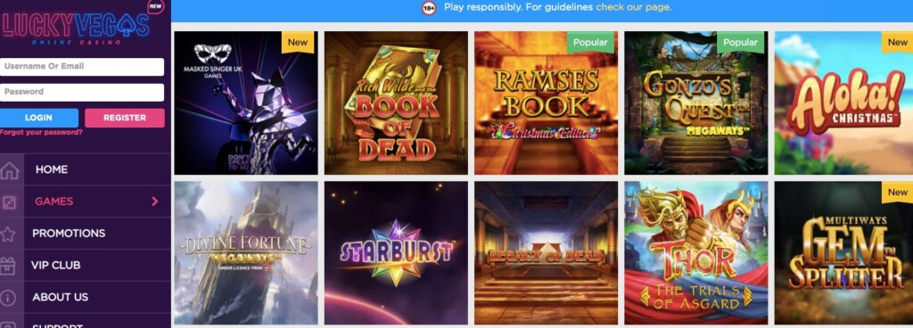 10 of the most popular casino slots at lucky vegas