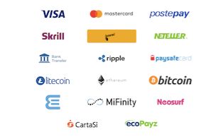 logos of the available payment methods