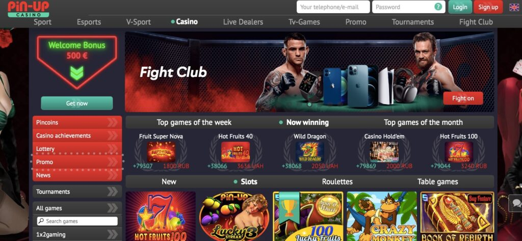 pinup online casino start page