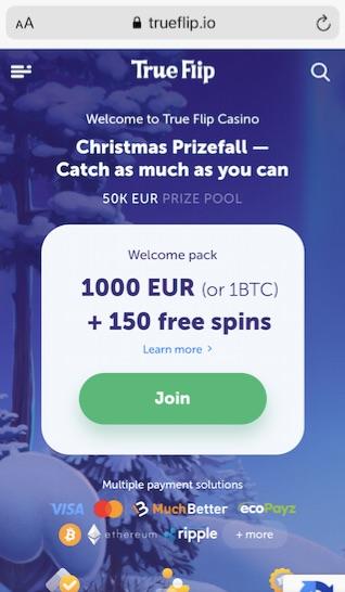true flip online casino mobile version start page