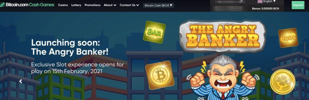 bitcoin.com cash games start page