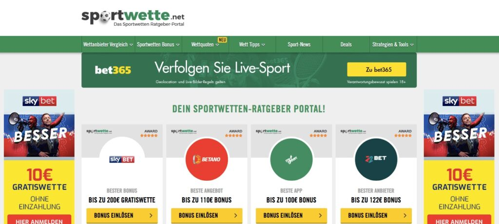 sportwette.net home page