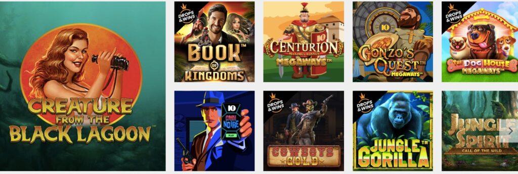nine popular casino slots at 10bet online casino