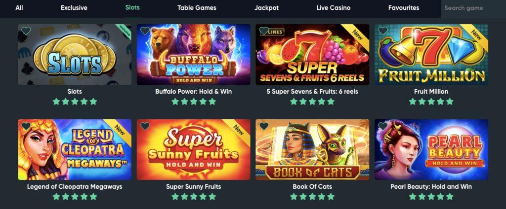 eight popular slots games at bitcoin casino