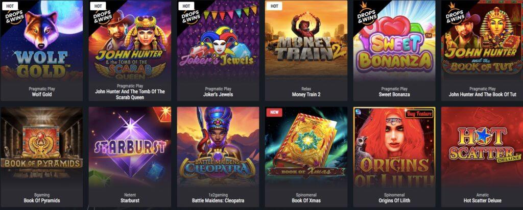 twelve popular casino games at cobra casino