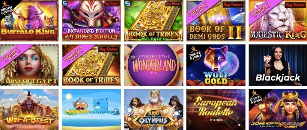 fifteen popular casino games at mrbet