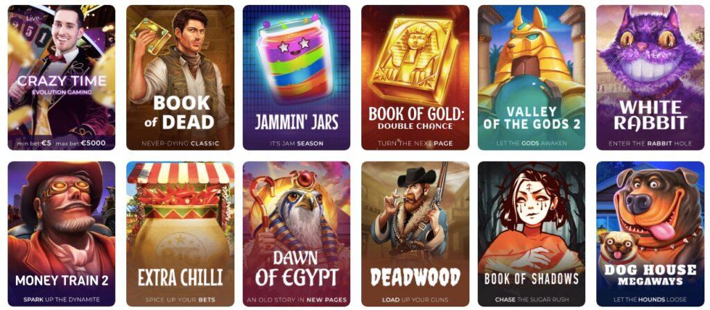 twelve popular casino games at tsars online casino