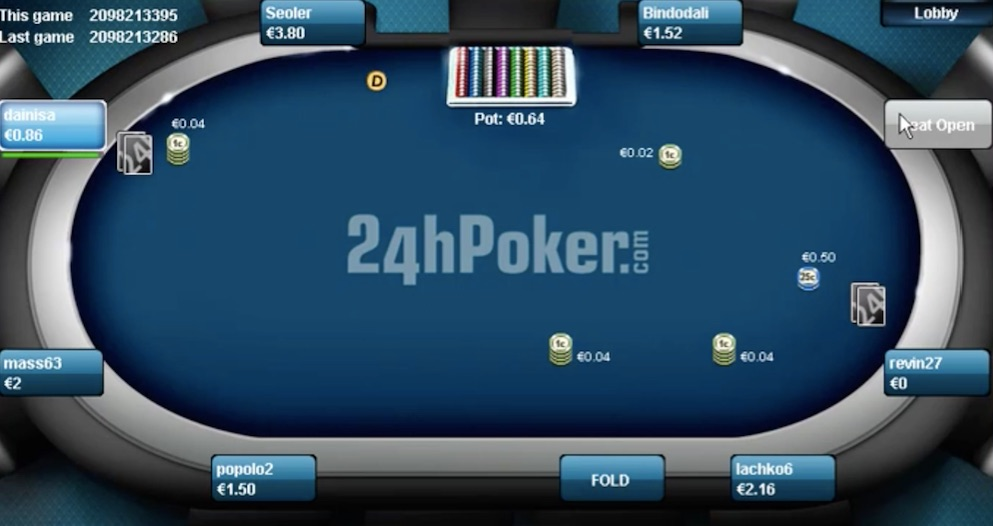 online poker table from the entraction network
