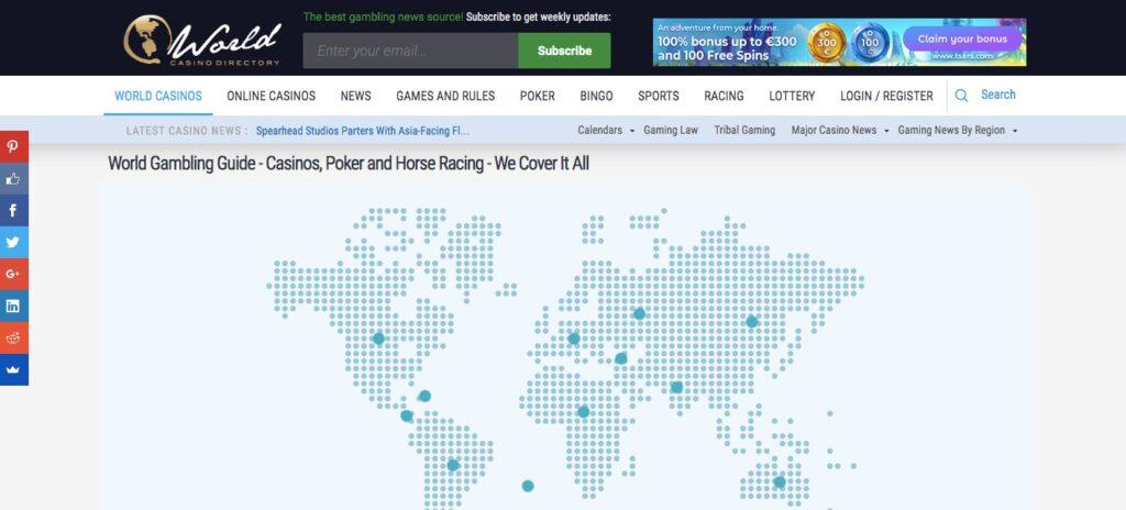 worldcasinodirectory home page