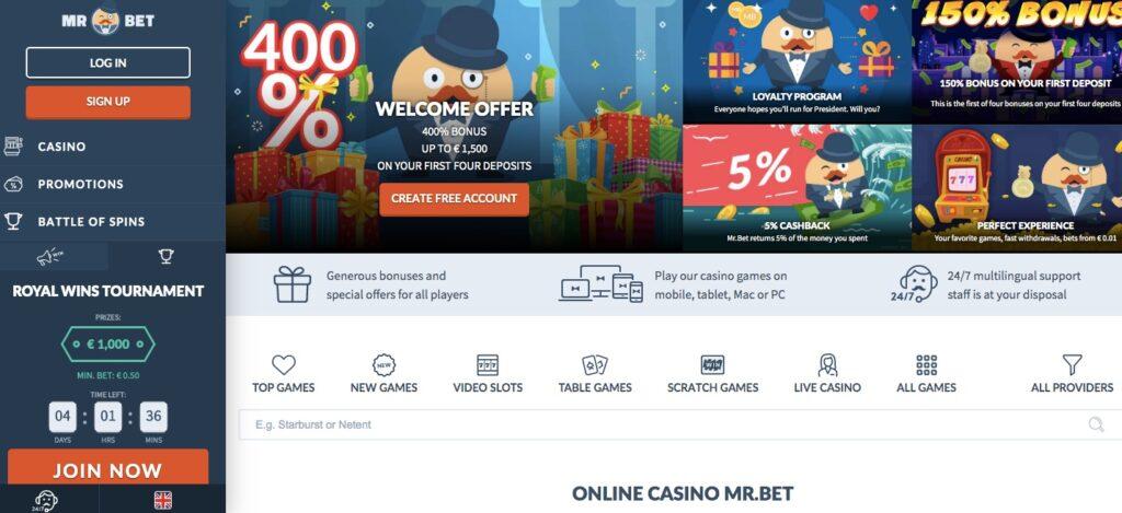 mrbet casino start page